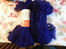 Lot Of 2 Caron Heavy Duty Rug Yarn, Vintage, Deep Purple,4Oz Each