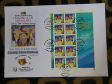 SOUVENIR STAMP SHEET FDC SYDNEY OLYMPIC GOLD MEDALLISTS - CYCLING MADISON