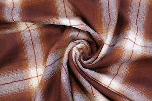 Pendleton Burgundy and Cream Large Plaid flannel Fabric By The Yard