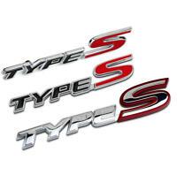 Brushed Aluminum RR Car Sticker Badge Fit Honda Civic Tailgate Decal Emblem