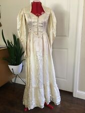 Vintage Gunne Sax Jessica Cream Crochet Ivory Praire Hippie Boho Wedding Dress 9