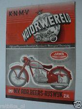 DMW 1949-23,JAWA TWIN 500CC,ETTEN RACE,KNIJNENBURG,BURIK,POSTMA,UITTENHOUT,HEIDA