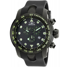 INVICTA 17812 MEN'S PRO DIVER CHRONOGRAPH  WITH BLACK  DIAL AND SILICONE BAND