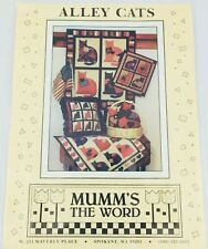 Debbie Mumm's the Word Alley Cats Pattern Wall Hanging Pillow Soft Sculpture