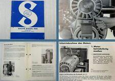 Motor von Holder A12 B12 E12 Sachs Diesel 600 Reparaturanweisung