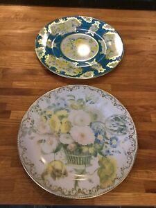 2 X Victoria & Albert Museum Tin Enamal Plated Collectors Plates