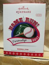 "2017 HALLMARK KEEPSAKE ORNAMENT ""BASEBALL STAR"" NIB  PERSONALIZE"