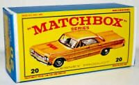Matchbox Lesney No 20 CHEVROLET TAXI CAB Empty Repro E style Box