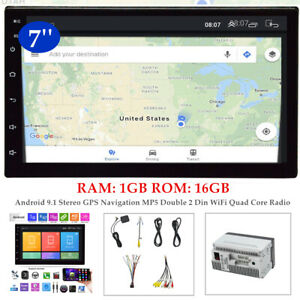 """7""""Auto Android 9.1 Stereo GPS Navigation MP5 Player 2 Din WiFi Quad Core Radio"""