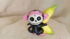 Furrybones Black Munky the Monkey Figurine Skull in Costume New Free Shipping