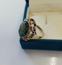 Ring Gold 333 mit grünem Spinell ANTIK