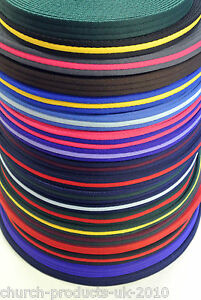 25mm Soft Polyester Air Webbing 20 Colours Straps Dog Leads 1m 2m 5m 10m 25m 40m