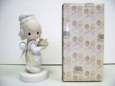 """Precious Moments 1981 Figurine """" There Is Joy In Serving Jesus """""""