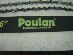"""NEW Poulan 16"""" Bar and Chain for Poulan Chainsaw"""