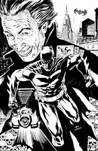 BATMAN  BY IGOR VITORINO - ART PINUP Drawing Original