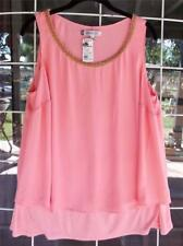 New Jenifer Lopez Sleeveless Layered Embellished Neckline Dressy Blouse Sz. 0X