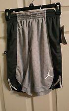 Nike Michael Jordan Jumpman Flight Youth Basketball Shorts Lg 12-13 y W.Grey $40
