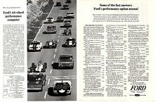 1965 FORD GT/SHELBY/COBRA 427/DRAGONSNAKE/GALAXIE/FAIRLANE ~ ORIGINAL 2-PAGE AD