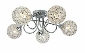 New Jewel Shades Shade Ball 5 Way Flush Ceiling Light   LED