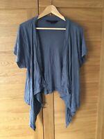 GREAT PLAINS Ladies 100% Cotton Blue Waterfall Lagenlook Summer Cardigan UK12