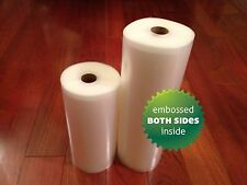 2 Rolls (1 Each)  8 x 50 & 11 x 50 4 mil  Vacuum Sealer Rolls  -FREE Ship USA