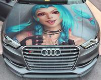 Vinyl Car Hood Wrap Full Color Graphics Decal LoL JinX Sticker