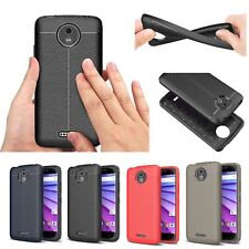 Rugged Soft TPU Silicone Case Leather Pattern Cover For Moto Sony Asus LG Nokia