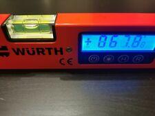 DIGITALER LCD WINKELMESSER MIT WASSERWAGE Wührt DWM 350  MESSGERÄT  GRADMESSER