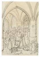 Die Beschneidung Christi, 19.Jhd., Federzeichnung über Bleistift