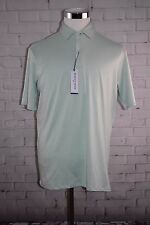 "Mizzen + Main ""Pinnacle"" Green Lily Polo Short Sleeve Sz Large MSRP $80.00"