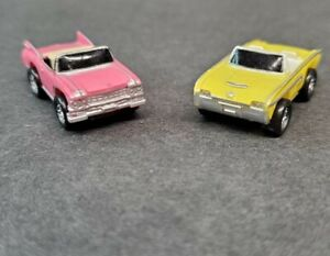 Micro Machines Cadillac 59 Convertible Pink From Super 10 Collection Yellow Tbrd