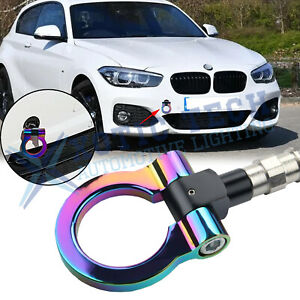 NEO Chrome Sport Racing Style Aluminum Tow Hook For BMW 1 3 5 Series X5 X6 M3