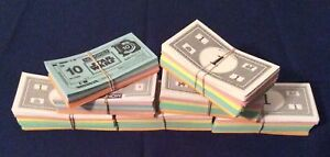 Monopoly Board Game Replacement Paper Money Complete Set - You Pick the Edition