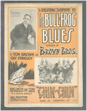 BULL-FROG BLUES 1916 Brown Bros Saxophone Band Piano Solo Sheet Music