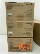 Lot 4 Xerox Phaser 6280 Laser Color Printer Cartidge Cyan Yellow Magenta + Fuser