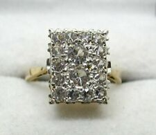 Beautiful Vintage 9 carat Gold And Spinel Cluster Ring Size M