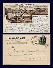 NEW MEXICO HASPELMATH PIONEER CARD MULTI VIEW POSTED 1903 TO BREEN COLORADO