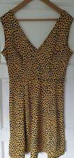 H&M Yellow Animal Print Dress- Size L