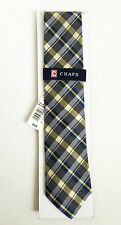 BNWT Authentic CHAPS By RALPH LAUREN Men's Necktie Yellow Plaid $36 FREE SHIP