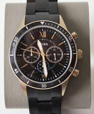 Fossil BQ2258 Herrennuhr Wrist Watch Flynn Sport Chronograph Black Gold New