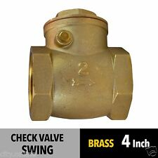 NEW SWING CHECK VALVE 4 inch 100mm BRASS BSP Female Thread Non Return Valve