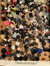 Vintage Assorted Craft Sewing Buttons Lot 125+ Various Sizes Types Colors