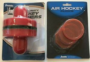 Franklin Zero Gravity Hockey Pushers Air Hockey Pucks Lot Table Set New