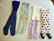 Baby tights Set Lot Infant Girl 6-12 Gymboree Crazy 8 Fox Glitter Sparkle Hearts