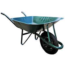 Carretilla jardin 85 litros verde desmontada con rueda neumatica