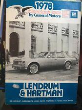 AUTOMOBILE BROCHURE - 1978 GENERAL MOTORS Gamme-UK