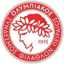 "Olympiacos FC Greece Football Soccer Car Bumper Sticker Decal 4.6""X4.6"""