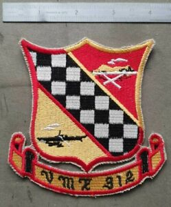 USMC VMF-312 - Marine Fighter Attack Squadron 312 - Korean War Jacket Patch