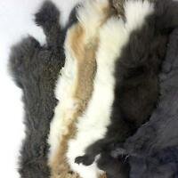 SLC Assorted Natural Rabbit Hide Pelt Fur Skin Leathercraft Quality Craft Grade