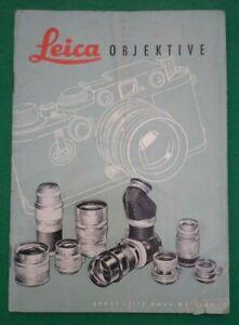 1954 LEICA OBJEKTIVE CAMERA LENS BROCHURE (ERNST LEITZ WETZLAR AUDI DKW F91)